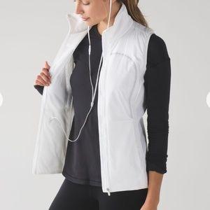 Lululemon Run For Cold Vest Size 10 Reflective